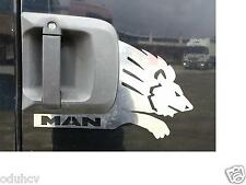 Left/Right 2 Stainless Steel Metal Door Plates for Truck MAN TGA TGX Lion Emblem
