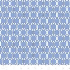 Fabric 100 Cotton Camelot Jackie Blue Hexagon
