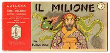 COLLANA LIBRI CELEBRI 17 IL MILIONE MARCO POLO FARMACIA MAGNESIA SAN PELLEGRINO