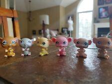 Littlest Pet Shop Lps Authentic Lot of 6 Mice Rodents