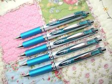 5pcs Pentel retractable Ener Gel BL77 0.7mm rollerball pen Turquoise Green(Japan