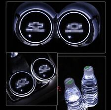 2PCS Colorful RGB Led Light Car Cup Holder Pad Interior Atmosphere for Chevrolet