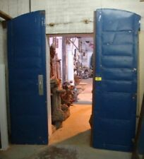 Industrial FIRE DOOR Arched Steel, Salvaged from an old N. Carolina Cotton Mill