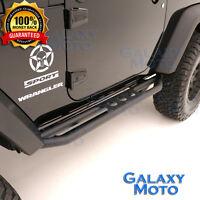2 Door Rock Crawler Side Slider Step Armor Rocker Guard fit 07-17 Jeep Wrangler