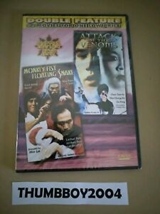 *New & Sealed DVD* Monkey Fist Floating Snake + Attack Of The Venoms. 2 Movies!
