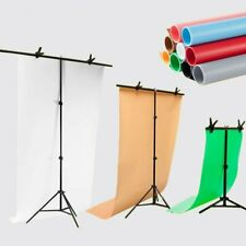 T Backdrop Stand PVC Background Photo Studio Photography Support System ( Clip )