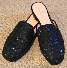 8834fdabe7b9 NEW  175 Kate Spade Gowan Black Sequin Glitter Mule Slip On Slide size 7M