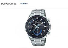 Casio Edifice Carbon Dial Solar Chrono IP Besel SS Band Watch EQS920DB-1BV