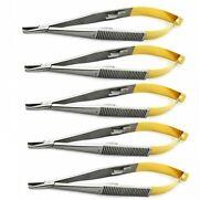 "5 Pcs Dental TC Castroviejo Needle Holder 5.5"" Straight Surgical Instrument"