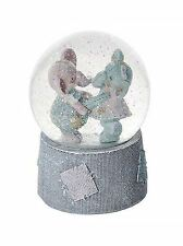 Elephant Musical Snow Globe Music Box Kids Baby Christening Present Gift Girls