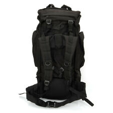 Black 65L Waterproof Outdoor Tactical Backpack Camping Hiking Mountain Travel