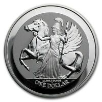 2017 ~ 1~OZ ~ PURE .999 SILVER ~ PEGASUS ~ REVERSE FROSTED PROOF COIN ~ $33.88