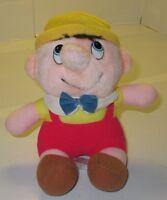 "Pinocchio Plush Doll Walt Disney Animated Classic Film 6"" Vintage 1985 Stuffed"
