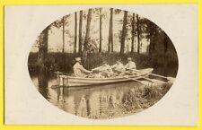 cpa Carte Photo de 1916 de Gabriel LAVIE d'AMIENS MILITAIRES SOLDATS en Barque