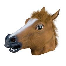 Cosplay Halloween Horse Head Mask Latex Animal ZOO Party Costume Prop Toys Novel