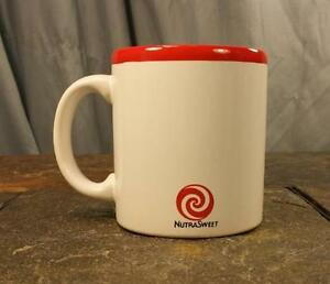 Waechtersbach W Germany NutraSweet White & Red Peppermint Candy Coffee Mug / Cup
