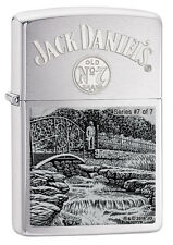 Zippo 29179, Jack Daniel's Scenes Lighter, Limited, #7 of 7, Brushed Chrome