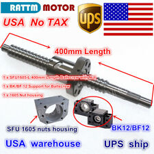 【US】 Ball Screw SFU1605 400mm end machined + BK/BF 12 Support+Nut CNC Router Kit