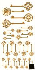 "13476-AC New Design Vintage Keys 3-1/2"" X 7-1/4"" Sheet Ceramic Decals Dx"