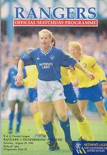 Programme / Programma Glasgow Rangers v Dunfermline Athletic 25-08-1990