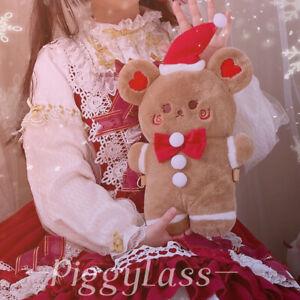Lolita Girl's Biscuit Christmas Bear Plush Doll Backpack Crossbody Shoulder Bag