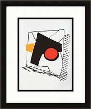 Authentic 1976 ALEXANDER CALDER Original Lithograph BOLD COMPOSITION Framed COA
