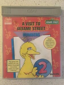 Philips CDi A Visit To Sesame Street NUMBERS Boxed Case Very Good Condition