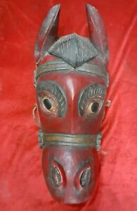 Wooden Hand Made Horse face Mask