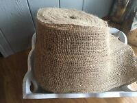 Natural Jute Hessian Ribbon Weddings, Bows,Crafts ,Trim, Sewing, 15cm Wide 1 Mtr