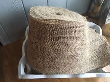 Natural Jute Hessian Ribbon Weddings Bows Crafts Trim Sewing 15cm Wide 1 MTR