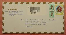 DR WHO 1996 UAE DUBAI REGISTERED AIRMAIL TO CANADA 149943