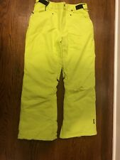 Neff Jack Snowboard Pants Kids Sz L Lime Green