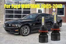 LED For Ford MUSTANG 2005 2006-2012 Headlight Kit H13 6000K Bulbs High-Low Beam