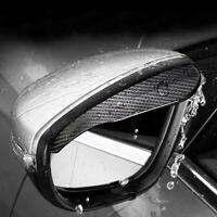 2x Carbon Fiber Black Mirror Rain Visor Guard Trim Universal Car Accessories