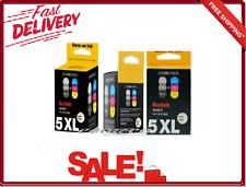 5 XL Black and Color Combo Ink Cartridge for Kodak Verite Printers Fast-Drying