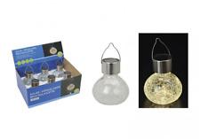 4 x LED Hänge-Solarleuchte Cracking H9xB11 cm Garten  6-8St. Weißlicht aus Glas