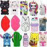 3D Cute Cartoon Animal Soft Silicone Case Cover Skin for iPhone Samsung Phone