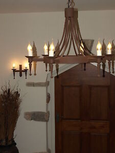 Wrought Iron British Hand Forged Chandelier