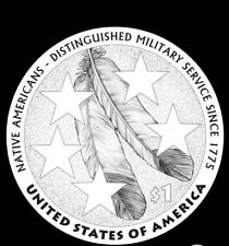 2021 P&D Native American Distinguished Military Service Dollar 2 Coins - PRESALE