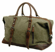 Canvas Shoulder Travel Handbag Sports Weekend Overnight Duffel Gym Bag Luggage