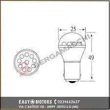 E03002602 OKYAMI BLISTER 2 LAMP.LED 12V BA15SS25 ROSSA LED 12V BA15s; S25 Gialla