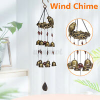 25'' Vintage Wind Chimes Metal 12 Wind Bells Birds Nest Garden Back Yard Decor