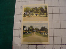 Vintage Postcard: quebec--ARMITAGE'S CABINS, GAS STATION, SHERBROOKE
