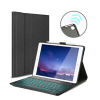 """AU For iPad Pro 10.5"""" (A1701 A1709) Backlit Bluetooth Keyboard Stand Smart Case"""
