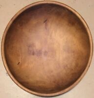 Antique AAFA Barely Used Wooden TREENWARE BOWL 19th Century Turned Hardwood NR