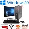 DELL/HP DUAL CORE DESKTOP TOWER PC & TFT COMPUTER SYSTEM WINDOWS 10,4GB,250GB