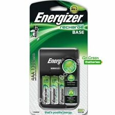 Energizer Base Battery Charger with 4 x AA 1300mah NiMH Rechargeable Batteries