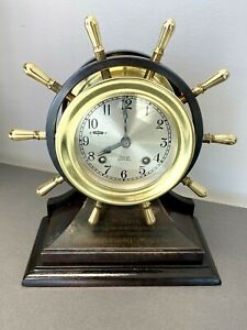 "CHELSEA ""MARINER"" YACHT WHEEL SHIP'S BELL CLOCK~ PARTS OR REPAIR NOT RUNNING"