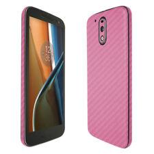 Skinomi Pink Carbon Fiber Skin & Screen Protector for Motorola Moto G4 (2016)