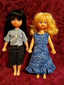 Vintage Susie Sad Eyes And Friend Lot of Two Dolls